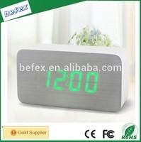 Children Alarm Clock with Time and Temperature Display Multi Alarm Clock Wooden Led Digital Alarm Clock