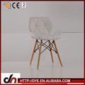 Multi- color marca hermoso diseño de cuero del pvc silla eames, silla de plástico y de la mesa redonda