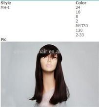 novo estilo de cor marrom estoque resistente ao calor sintéticos perucas femininas