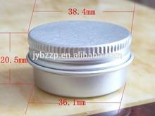 20g 38mm aluminum packaging cosmetic jar,metal packaging aluminum jar