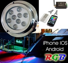 Wifi Controlled iPhone IOS Android RGB Color Changing Underwater Boat LED Light