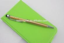 Hot sell customized logo crystal pen metal ball pen