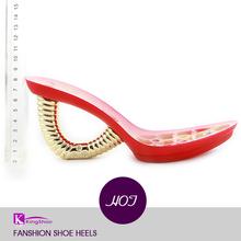 ABS high heel/shoe sole with rhinestone/ high heel platform