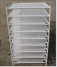 Square Dry Net 8 Level Stackable Hydroponic Plant Dry Rack