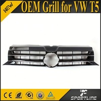 OEM Style ABS Black Front Sport Grill For VW T5 Transporter 2010-2014