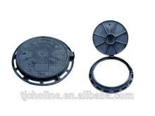 ductile cast iron manhole cover/bituminous paints En124 D400 heavy duty Ductile iron manhole cover