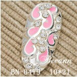 2014 new arrival nai art for fall,nail sticker,multi-colored hollow alloy with shiny rhinestone nail art