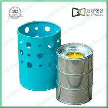 Round Shaped Fashion Design Metal Candle Holder