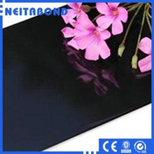 PE/PVDF Finish Glossy Black Color Wall Alucobond Aluminum Composite Paneling