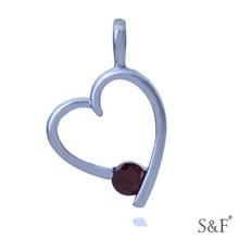 q8881431 Good Quality Heart One Stone Pendant
