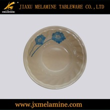 tea color round wavy melamine dinnerware