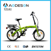 small wheel folding bicycle TZ181 lithium battery ebike,250w electric bicycle kit
