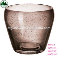 Elegant OEM Color Bubble Glass Flower Pot