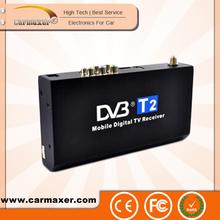 wholesale car dvb-t2 box mobile digital tv receiver car digital tv tuner mpeg4