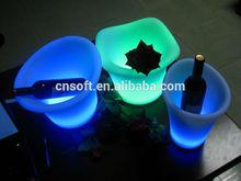 Newest RoHS ETL color cube led ice bucket