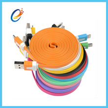 New design noodle flexible electrical wire flat electrical cable with many color for smart phone