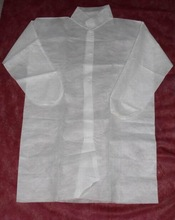 nonwoven protective clothing dust proof white disposable visit coat