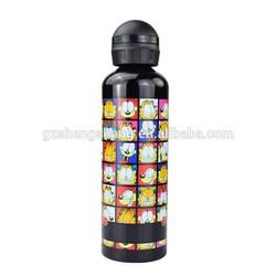300ml/400ml/500ml aluminum black hot water bottles(BPA Free 100%)