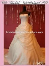 Corset seaming organza arabic wedding dress in dubai