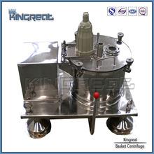 la descarga de la parte superior de acero inoxidable centrifugadora
