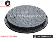 EN124 900mm polymer manhole cover/gas station manhole cover/fiberglass reinforced plastic manhole cover(JM-MR105D)