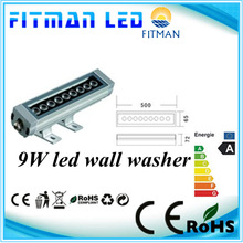 500mm IP65 rgb 9W led wall washer with internal change