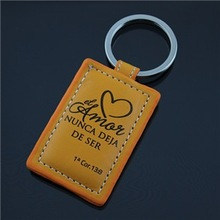 custom leather key ring,promotional leather keychain,printing logo leather key chain