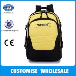 2014 top new polyester waterproof trolley backpack in wheels school bag with wheels