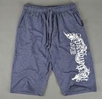 men fleece men melange purple short pants with string & screen print
