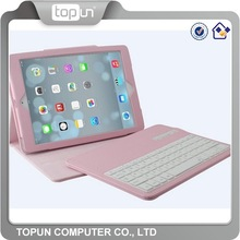 Bluetooth Keyboard Case for Pad, iOS System, Leather Case with Removable Keyboard
