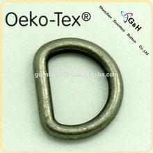 zinc alloy metal D ring for handbags