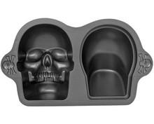 3-D Skull Pan, Skull Baking Mold, Skull Cake Mould for Halloween