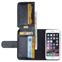 High Quality Crazy Horse Billfold Wallet Leather Luxury Case Cover for iPhone 6 Plus