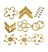 Wholesale jewelry 316L surgical steel piercing body jewelry titanium piercing ring