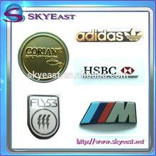 Fashion Relief Engraved Printed Enamel Epoxy Logo Metal Label Plates