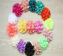 Vintage Chiffon Flower - Wholesale flowers - Eyelet Fabric Flower-hair clip