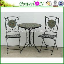 Cheap Antique Folding Metal Outdoor Table Chair Garden Furniture Set For Patio Backyard J29M TS059 PL08-8001,8002