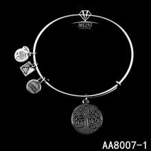 "Alex and Ani Bangle Bar ""Tree of Life"" Rafaelian Expandable Bracelet"