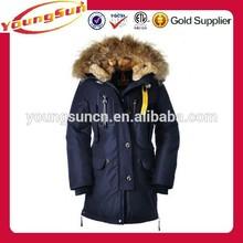 Winter windproof outdoor womens long coat with fur hood
