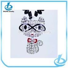Fashion popular full diamond pendant cute personalized hello kitty necklace