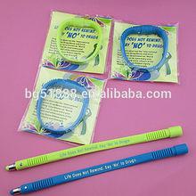 bracelet pen/ stylus ball pen/ silicone pen