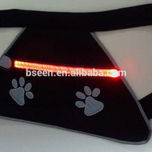 New fashion soft dog harness with led for dog safe