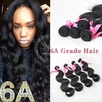 Natural Black Grade 6a body Wave Remy Brazlian Virgin Human Hair,mix length 10pcs Virgin Brazilian Human Hair Weaves Extension
