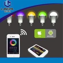 Led RGB Wifi Bulb Ios/Android System LED bulb 2.4G Remote Controller +Led RGB Bulb +WIFI controller