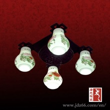 Modern style ceramic ceiling lamp for hotel decoration made in Jingdezhen