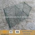 foro esagonale forma e filo di ferro rivestito di plastica materiale basket gabbione