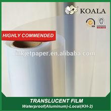Digital printing Inkjet Film clear PET, waterproof inkjet Transparent Printing Film roll for screen printing