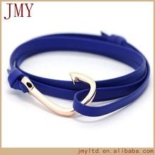 2014 Fashion design famous jewelry men bracelet leather