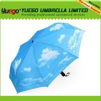 New Invention 2014 Sunny Sky Automatic Folding Travel Umbrella