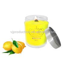 soy candle crackling wooden wick Lemon Myrtle scent